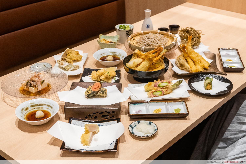 tempura makino - flatlay
