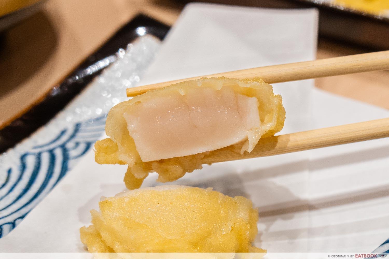 tempura makino - scallop hotate