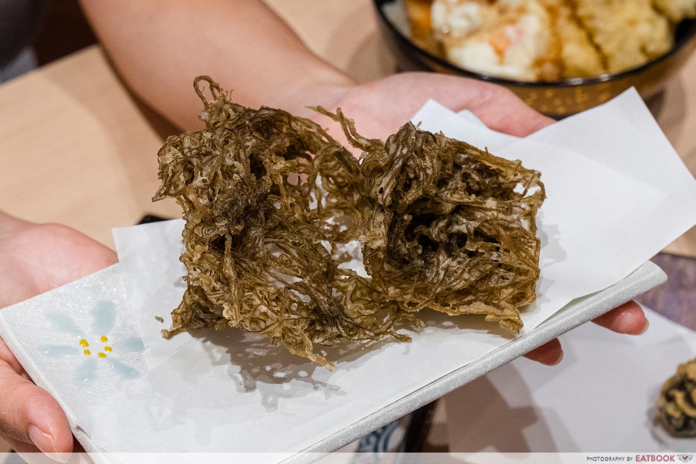 tempura makino - seaweed