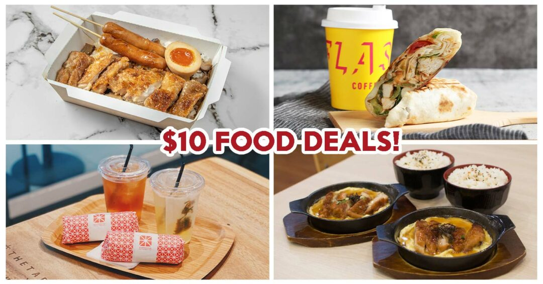 One raffles place $10 food deals