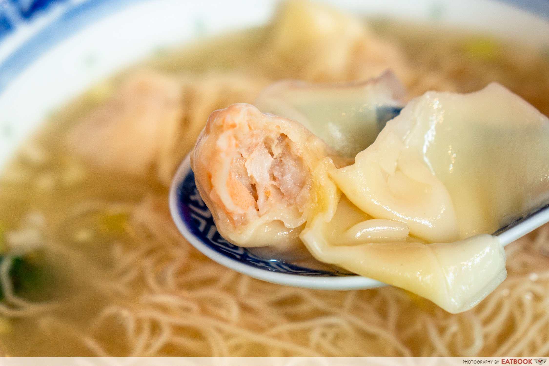 chef kin hk wanton noodle hk wanton noodle detail shot of wonton
