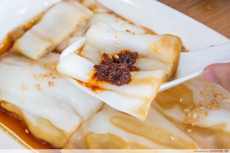 chef wei HK cheong fan - cheong fan with chilli