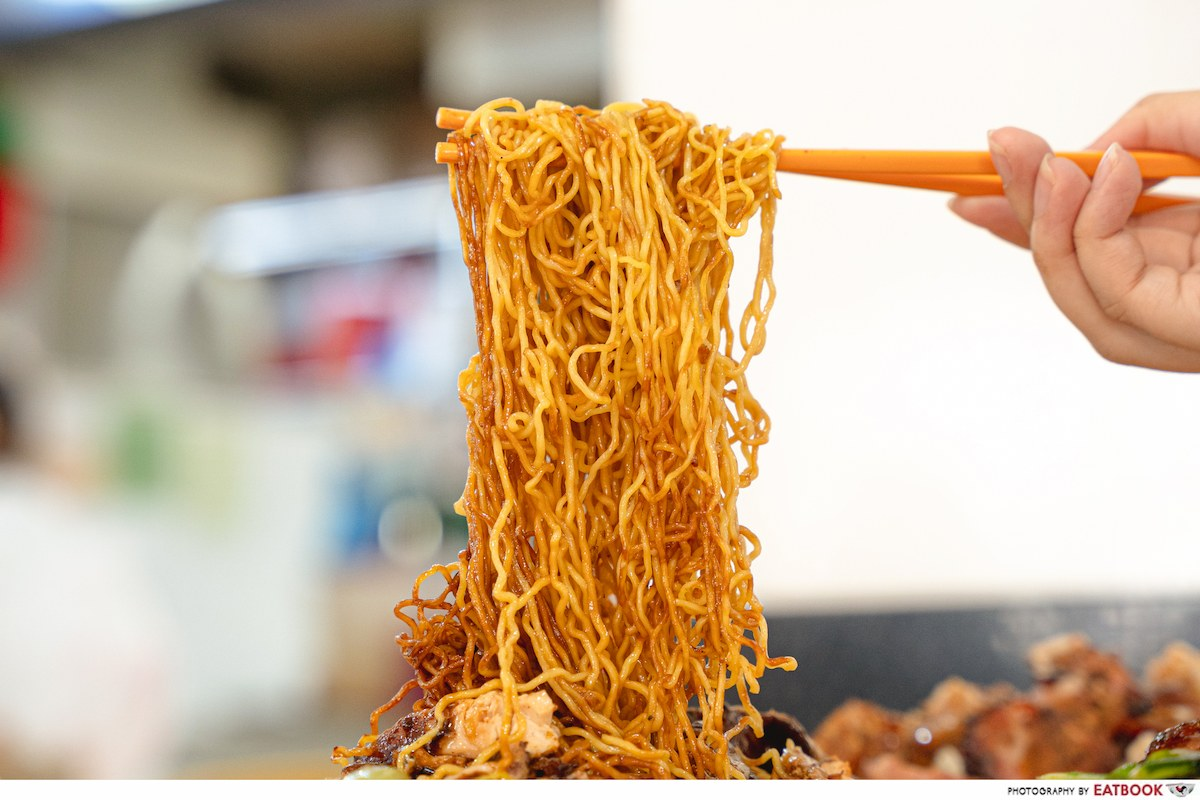 incredible roasted meat chicken wing noodle detail