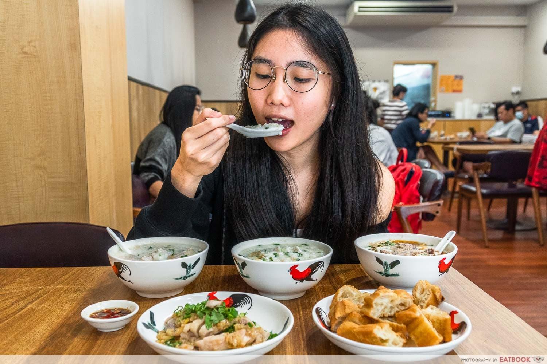 old shifu charcoal porridge - verdict shot