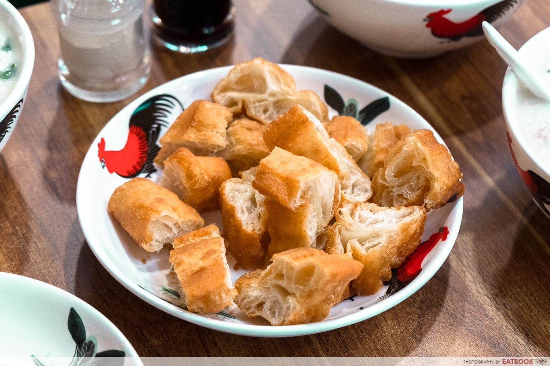 old shifu charcoal porridge - you tiao