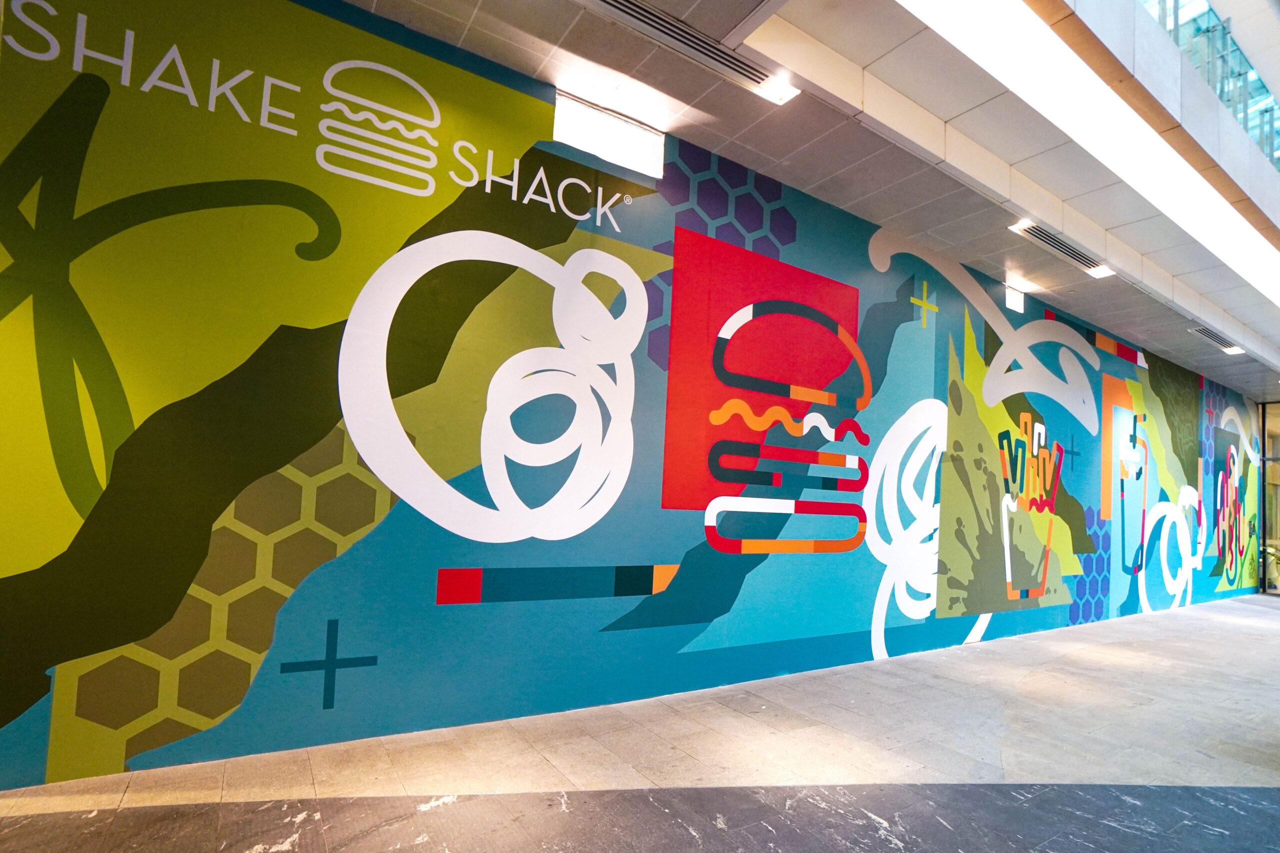 shake shack westgate hoarding